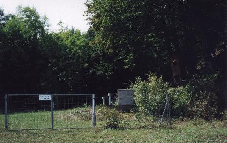 Border of Slowenia with guard shack