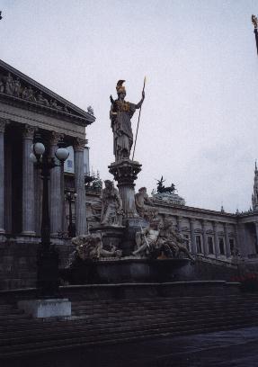 Parliament building statue